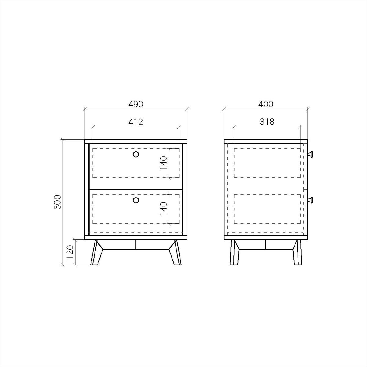 Прикроватная тумба FR010