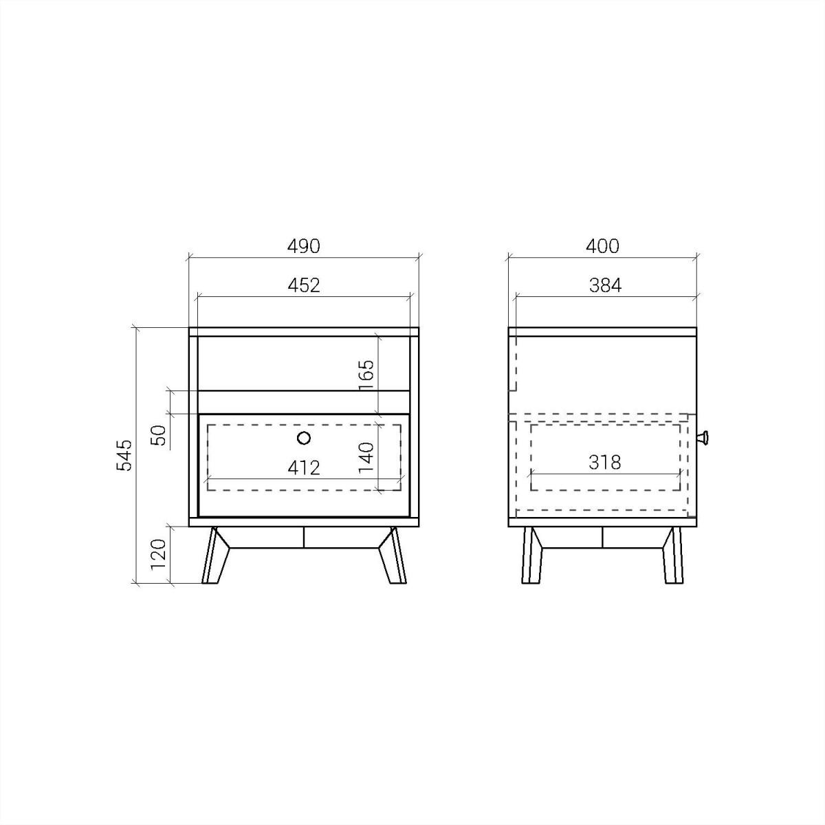 Прикроватная тумба  FR005
