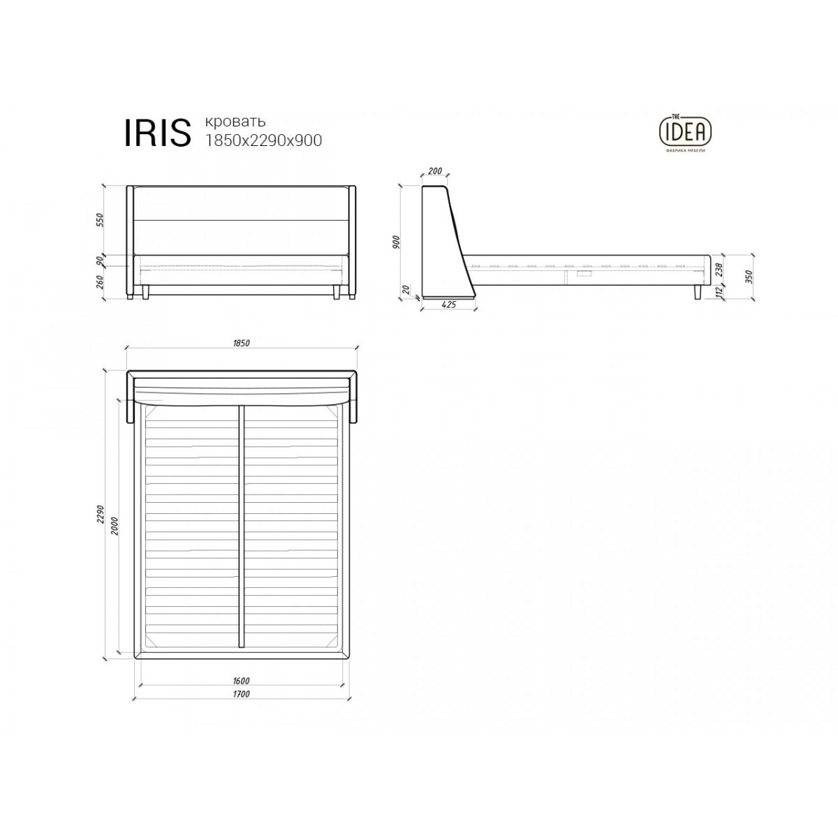 Кровать IRIS 416