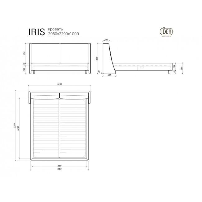 Кровать IRIS 218
