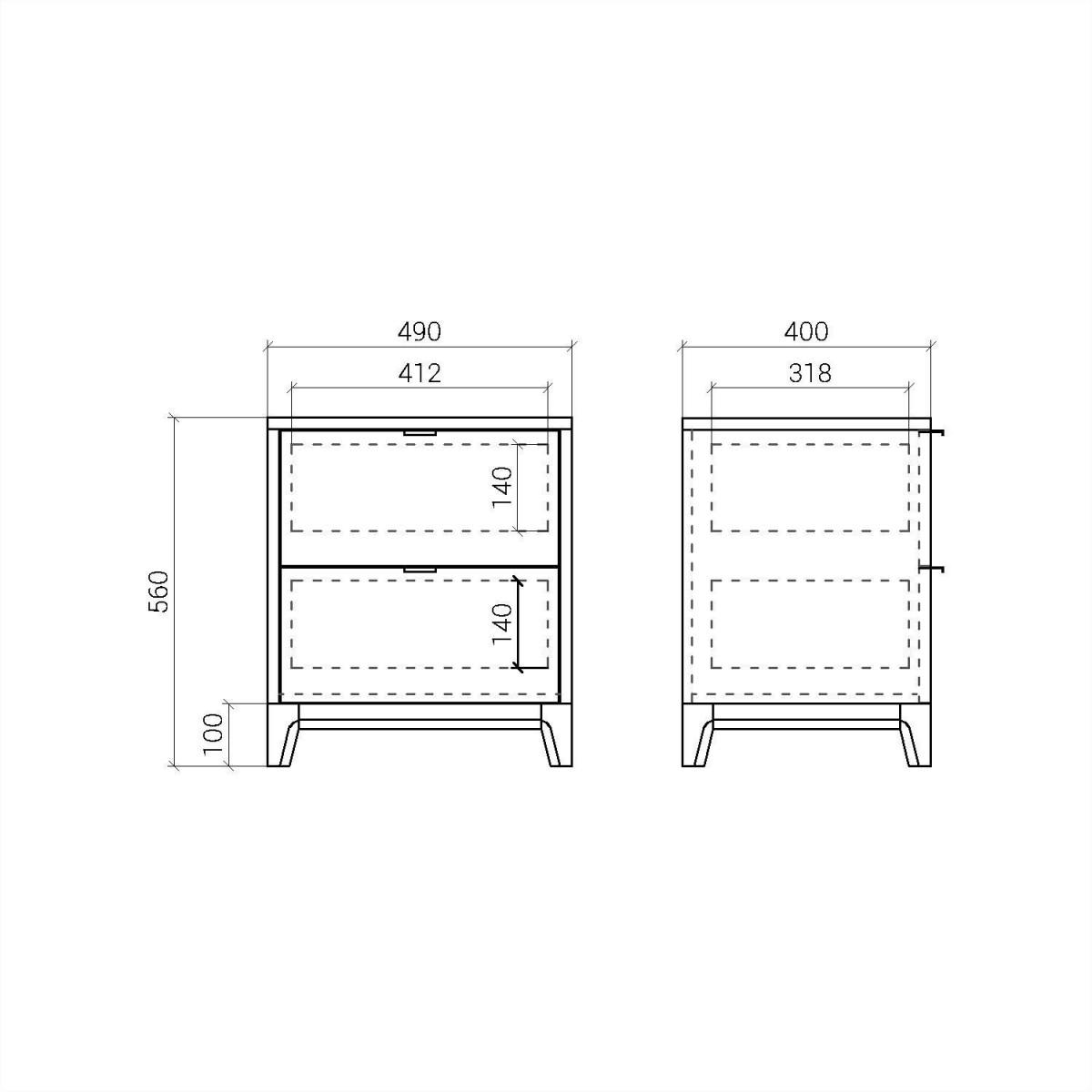 Прикроватная тумба CS010