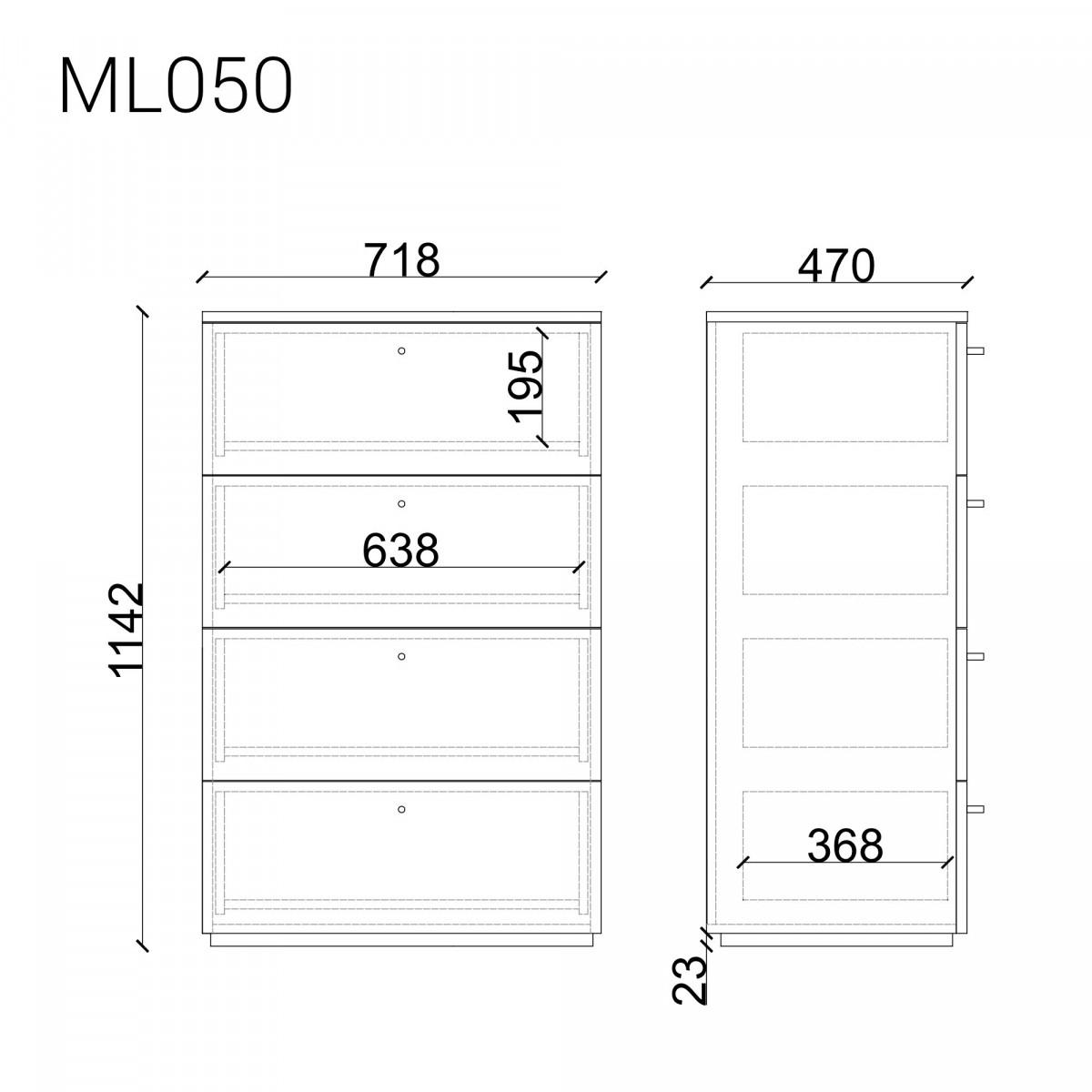 Высокий комод ML050