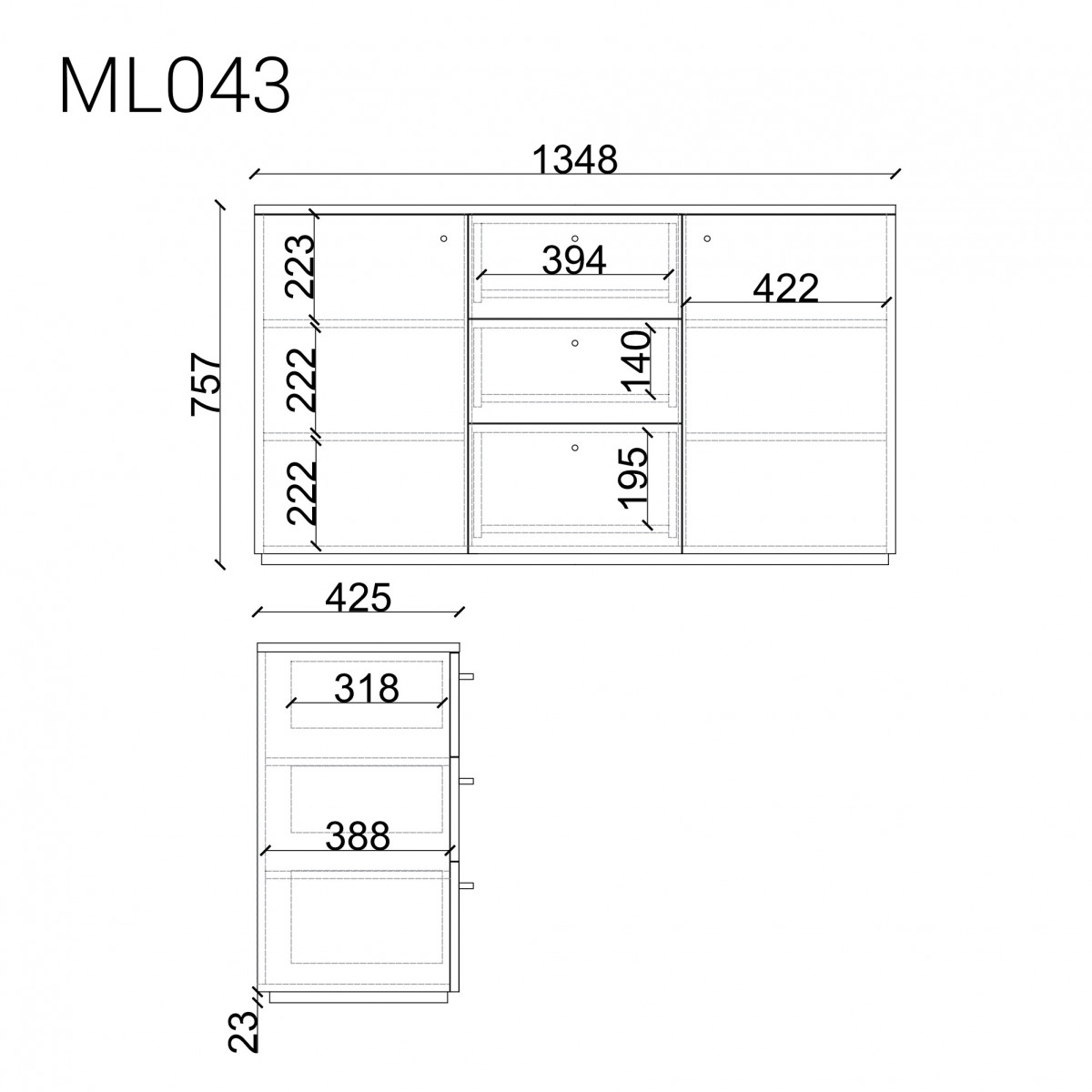 Комод  ML043