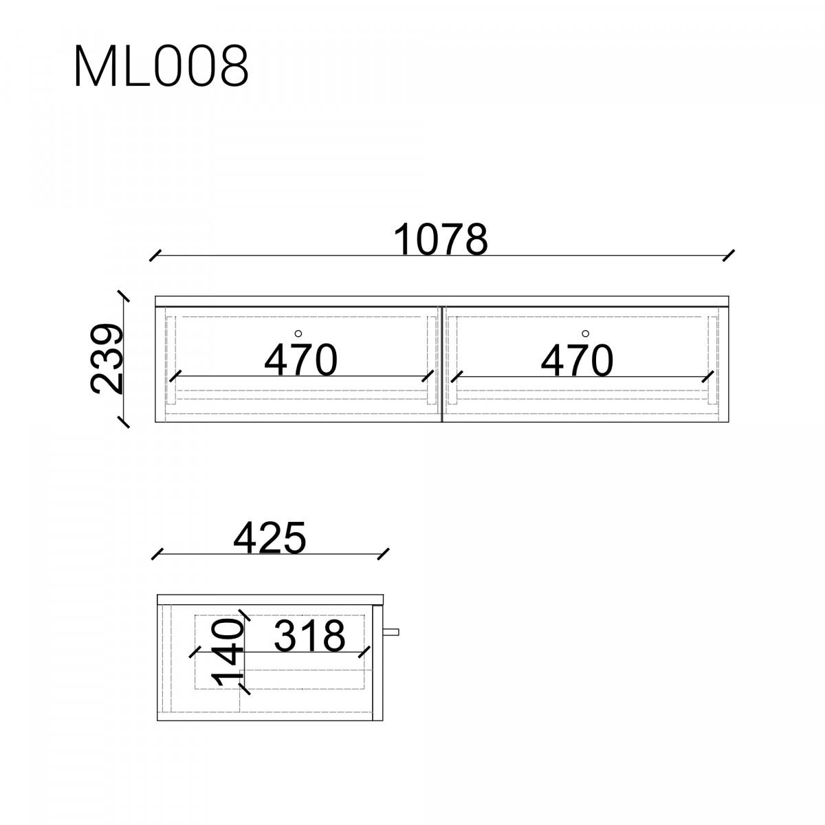 Консоль подвесная  ML008