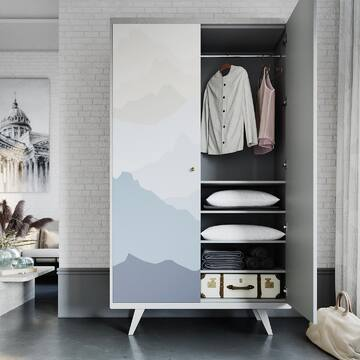 Может ли шкаф выглядеть легко и воздушно, быть вместительным, но не громоздким?  Может, если речь о шкафе THIMON Nо1!  Пастельные оттенки принтов и светлая тонировка основания идеально гармонируют с интерьерами в скандинавском стиле: коллекция фасадных изображений позволяет создать любое сочетание, которое подстроится к разным интерьерным решениям и открывает вам простор для творчества.  Ставьте ❤, если вам нравится такой интерьер!  Стоимость шкафа THIMON No1: 86 900 руб