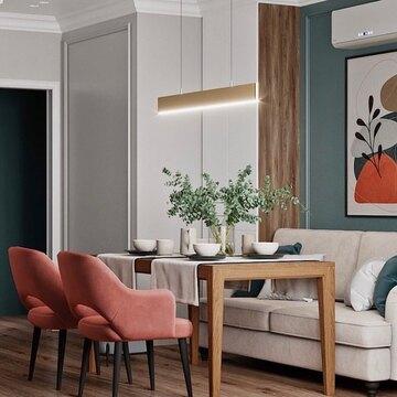Спасибо, что используете 3D-модели мебели THE IDEA в своих проектах и отмечаете нас на фото!  Сегодня мы хотим поделиться с вами интересным проектом @kato.design  Благородная кухня-гостиная с обеденным столом MAVIS, выполнена в приятной гамме, которая помогает расслабиться и отдохнуть от городской суеты. Насыщенные и яркие акценты гармонично сочетаются с пастельными оттенками, дополняя друг друга.  Одно удовольствие проводить время в такой уютной обстановке, особенно в пасмурную погоду. Согласны?