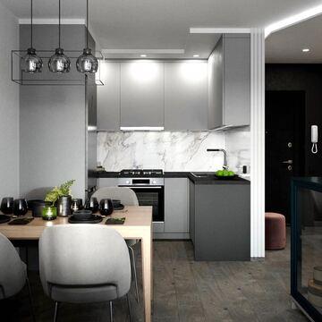 Делимся с вами проектом кухни в г. Брест, который разработала дизайнер Татьяна Крючкова  @t_k_interior_design   В проекте вы найдёте несколько предметов мебели от фабрики THE IDEA: обеденный стол MAVIS и низкая витрина CASE.  Листайте фото и ставьте 🖤