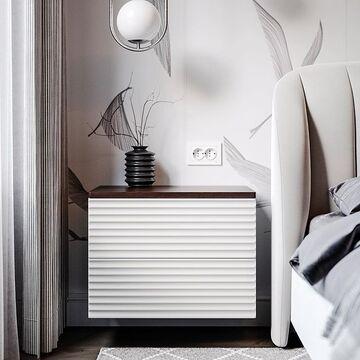 Разрабатывая новую коллекцию CODE нам хотелось создать эффектную мебель, которая подойдет к современному интерьеру, будет функциональной и удобной. В основе концепции дизайна - ритм, целостность формы, единство и порядок. Глубокая фрезеровка на фасадах  создает ритмичную игру теней на фасадах. К ним так и хочется прикоснуться. Плавные линии и округлость форм притягивают взгляд.  Некоторые изделия можно подвесить. Это поможет реализовать разные дизайнерские решения и упростит уборку - мебель не придется двигать.  Дверцы и ящики открываются легким нажатием на фасад.  Используйте изделия отдельно или объедините с другими моделями из коллекции - создайте гармоничную и удобную систему хранения под свой интерьер.  На фото подвесная прикроватная тумба HR3. Стоимость: 37900₽ Посмотрите все изделия из коллекции CODE на нашем сайте, ссылка в сторис и в описании профиля⤴️