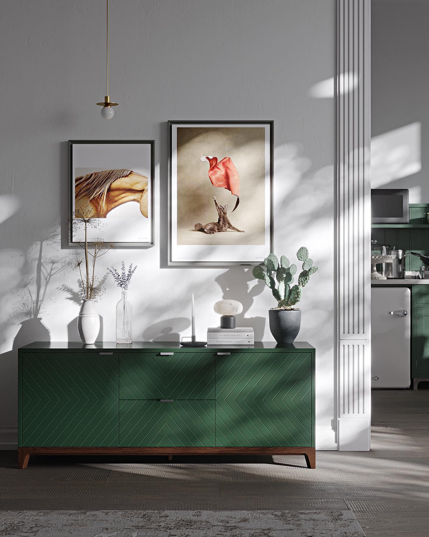 Осень уже дышит в затылок, скоро домашний уют станет жизненно необходим. Если в вашей квартире всё ещё не хватает яркости и комфорта, то вы в нужном аккаунте — наша мебель дает эмоции, которые согреют самое холодное осеннее утро.    Тумба под ТВ из коллекции Case в цвете «Хвоя» — это вместительное хранилище, генератор уюта и предмет искусства в одной вещи: ТВ можно заменить на живопись и декор, так даже симпатичней.    ✔️Цена: 61 900 руб.  Тумба доступна в 30 стандартных цветах эмали и в любом цвете из палитры RAL (cтоимость рассчитывается индивидуально).
