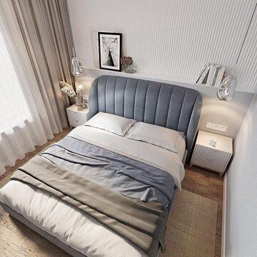 Пример того, как из небольшой комнаты можно сделать уютную и воздушную спальню, использовав метраж по максимуму. Кровать TULIP и прикроватные тумбы CASE из каталога The IDEA, акцентные детали сдержанных оттенков и торжество белого цвета — так выглядит комната, в которой хочется жить!  Автор проекта танхауса в Тюмени @ya_seva